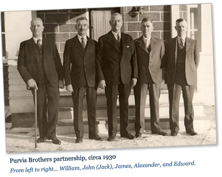 Photo: Purvis brothers partnership, circa 1930.